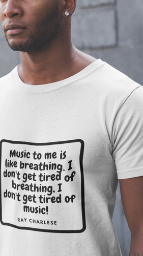 Music Quoted Printed T-Shirt Type-8