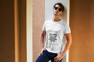 Music Quoted Printed T-Shirt Type-9