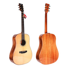 "Load image into Gallery viewer, Finlay 41"" Full Solid Acoustic Guitar with hard case"