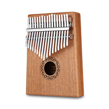 Load image into Gallery viewer, 17 Keys Kalimba Thumb Piano Mahogany Body