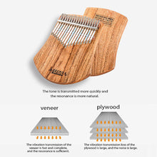 Load image into Gallery viewer, GECKO 17 Keys Kalimba African  Thumb Piano Finger Percussion (Camphor Wood)