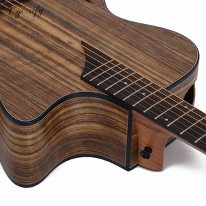 Electric acoustic guitar with EQ and tuner (Special Hickory wood)