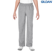 18400B Gildan Heavy Blend Youth Open Bottom Sweatpants