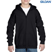 18600B Gildan Heavy Blend Youth Full Zip Hooded Sweatshirt