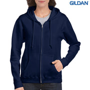 18600FL Gildan Heavy Blend Ladies' Full Zip Hooded Sweatshirt