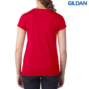 47V00L Gildan Performance Ladies' V-Neck Tech T-Shirt
