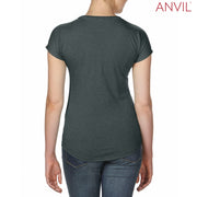 6750VL Anvil Ladies' Tri-Blend V-Neck T-Shirt