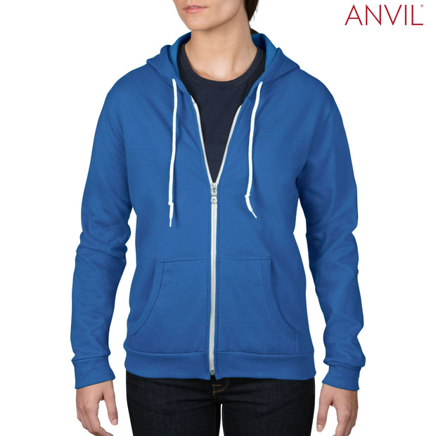 71600FL Anvil Ladies' Full-Zip Hooded Fleece