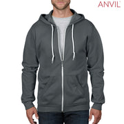 71600 Anvil Adult Full-Zip Hooded Fleece