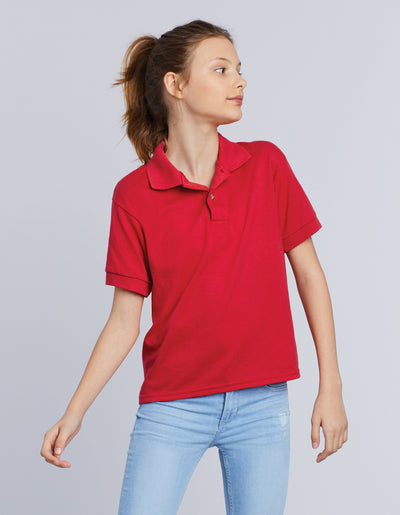 72800B Gildan DryBlend Youth Double Pique Sport Shirt