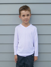 R455B Workguard Youth Longsleeve V-Neck Thermal