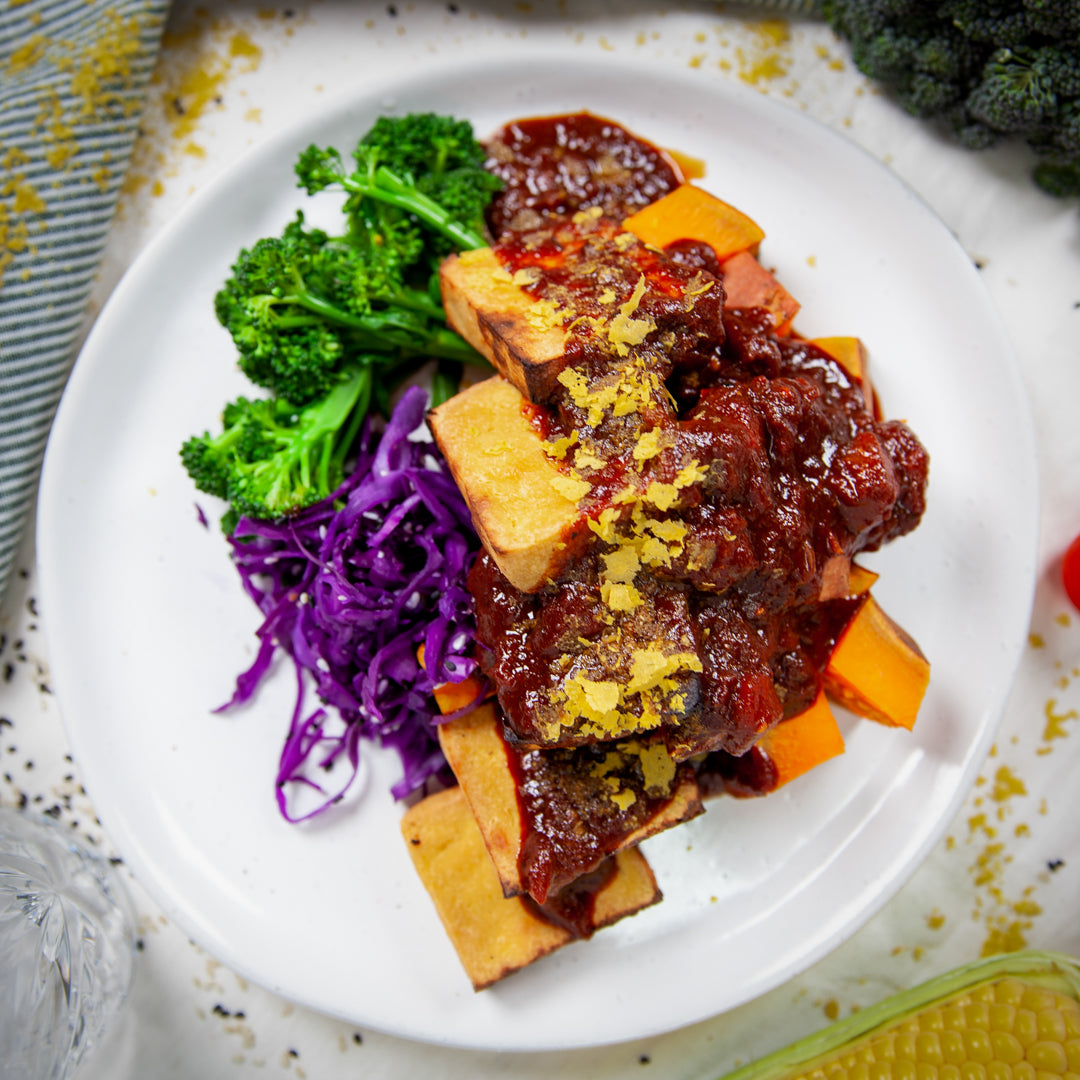 BBQ Tofu w/ Roasted Vegetables