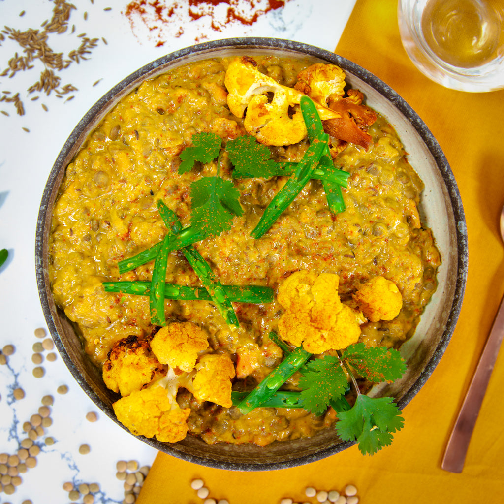 Caraway Lentil Curry w/ Seasonal Vegetables