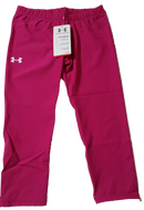 Women's Under Armour Heat Gear Compression Base Layer Capri Tights Pink (XS)