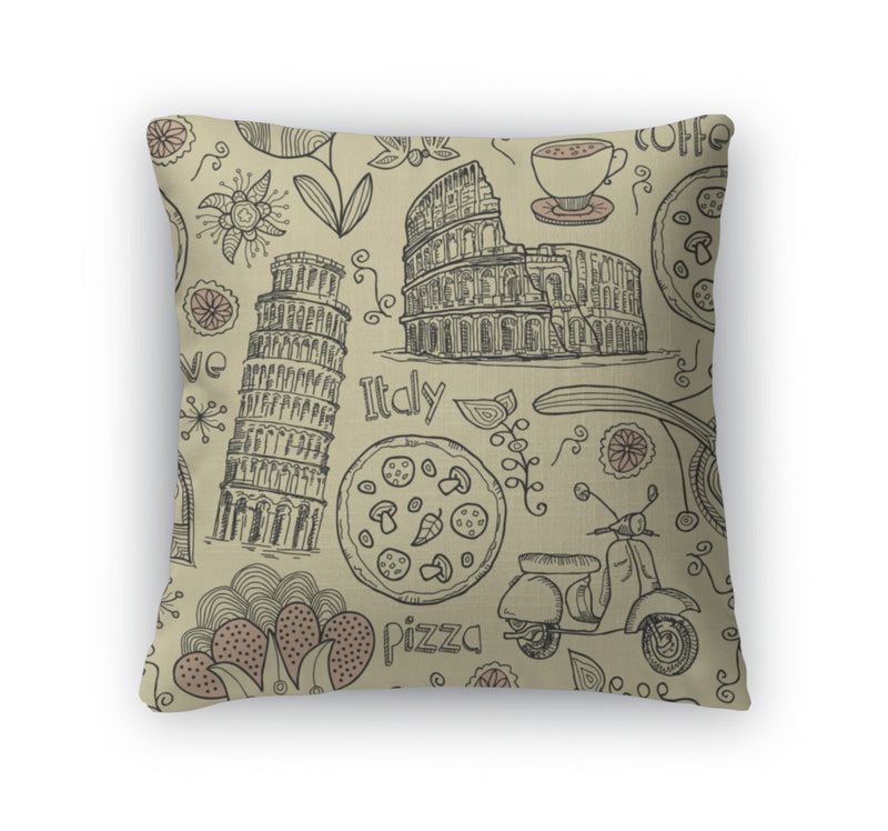 Throw Pillow, Italy