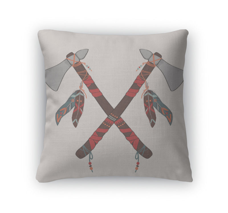 Throw Pillow, Of Native American Indian Tomahawks