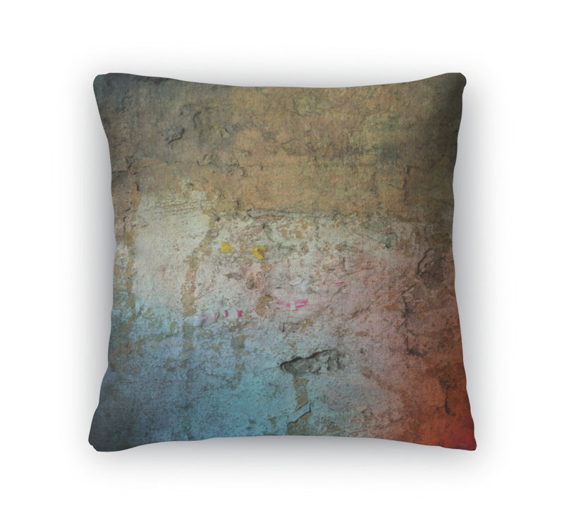Throw Pillow, Grunge Colorful