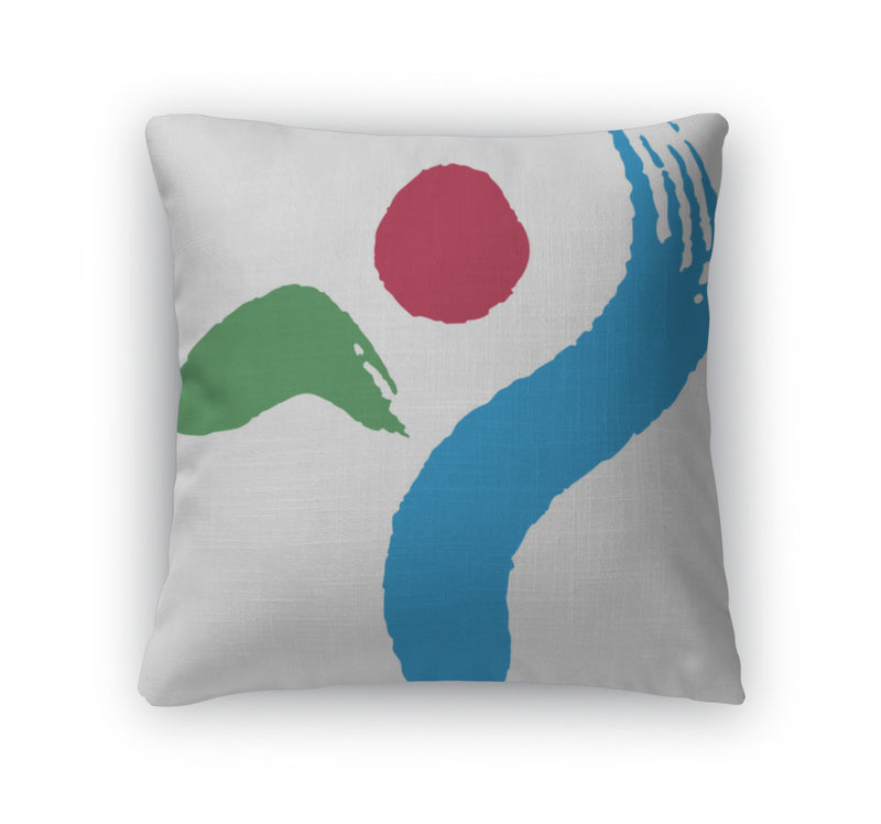 Throw Pillow, Coat Of Arms Of The City Of Seoul South Korea