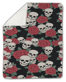 Blanket, Skulls and roses, Colorful Day of the Dead card