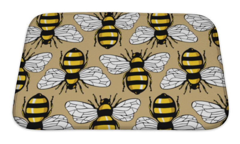 Bath Mat, Bee Honey Pattern