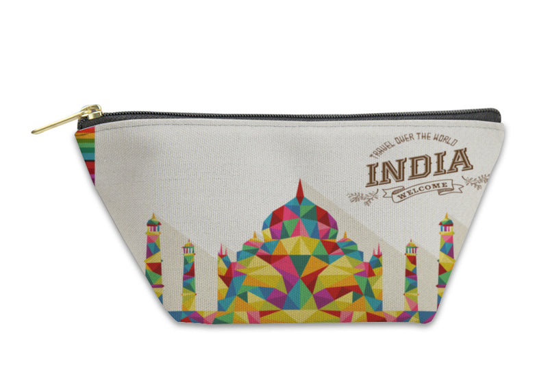 Accessory Pouch, Travel India Landmark Polygonal Monument