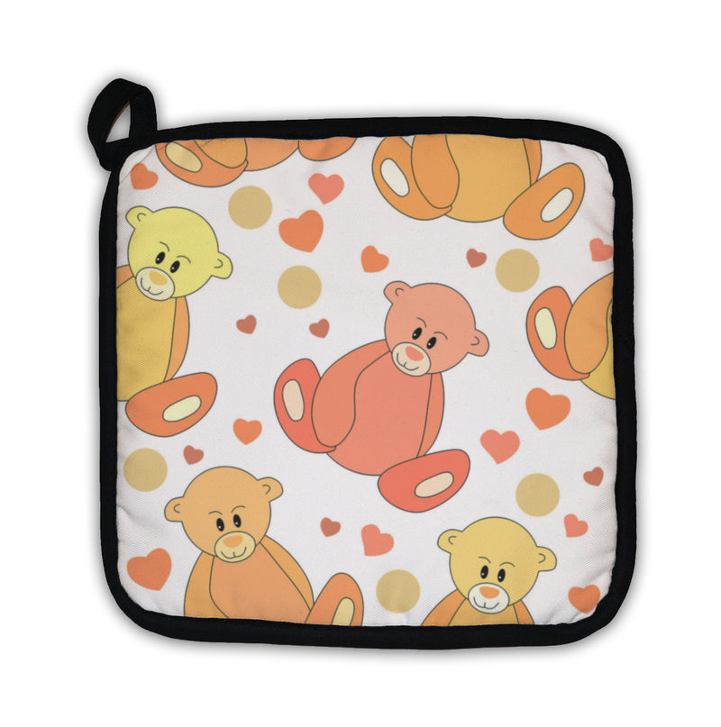 Potholder, Pattern With Teddy Bears