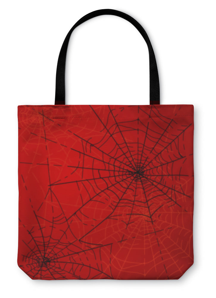 Tote Bag, Halloween Spiders Web