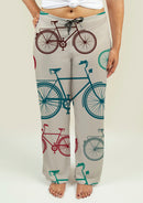 Ladies Pajama Pants with Vintage Bicycles