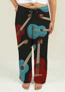 Ladies Pajama Pants with Guitars