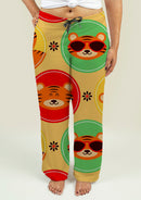 Ladies Pajama Pants with Baby Tigers