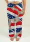 Ladies Pajama Pants with American Independence Day Pattern