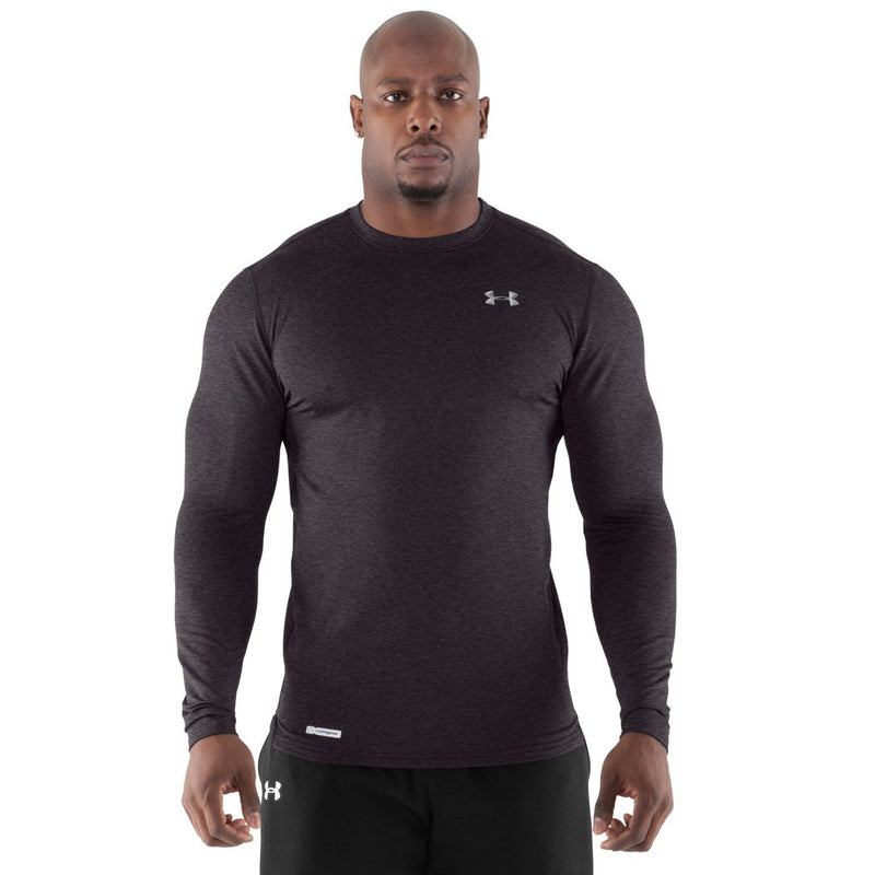 Under Armour Men's ColdGear® Fitted Long Sleeve Crew Carbon Heather/Metal