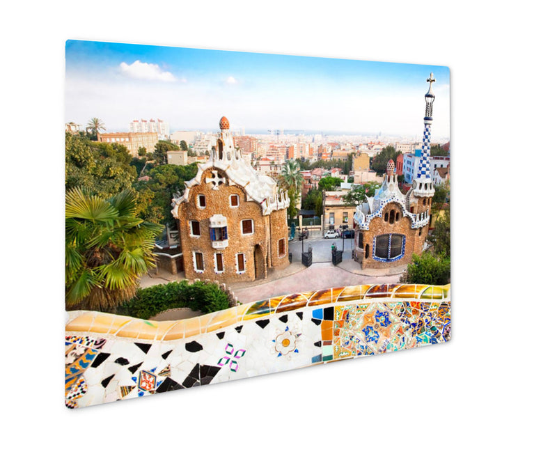 Metal Panel Print, Colorful Architecture By Antonio Gaudi Parc Guell Most Important