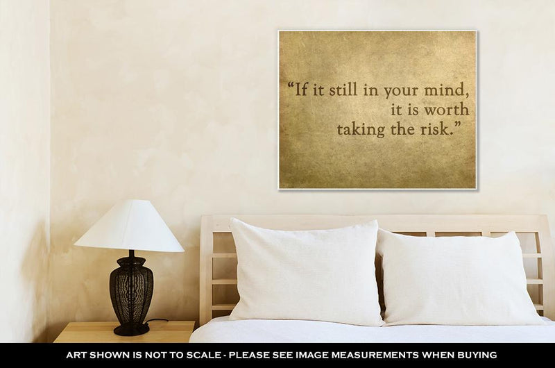 Gallery Wrapped Canvas, Inspirational Quote Words By Paulo Coelho On Old Grunge Backgrou