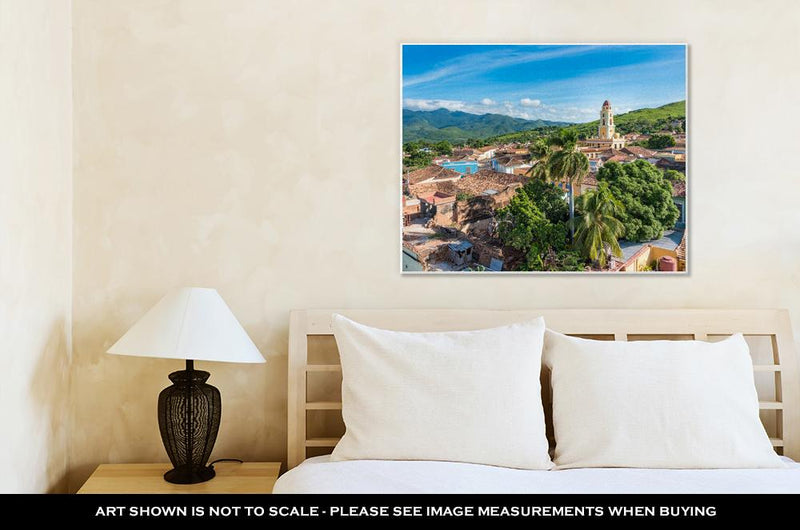 Gallery Wrapped Canvas, Cuba Tourism Trinidad Vintage Landmark