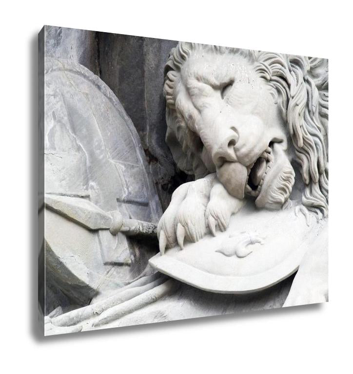 Gallery Wrapped Canvas, Monument The Dying Lion