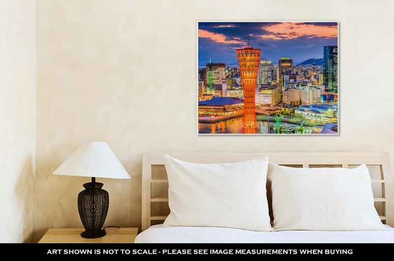 Gallery Wrapped Canvas, Kobe Japan Cityscape