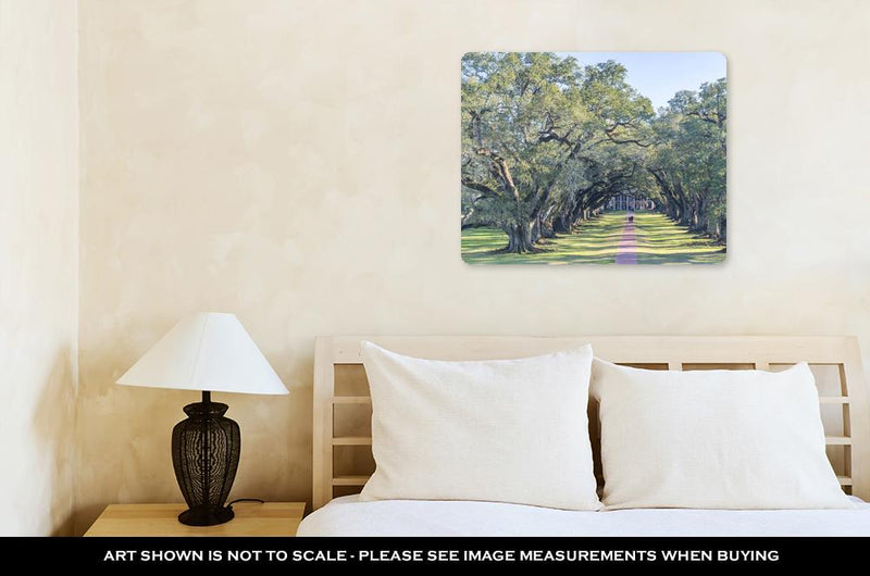 Metal Panel Print, Oak Alley Plantation Louisiana