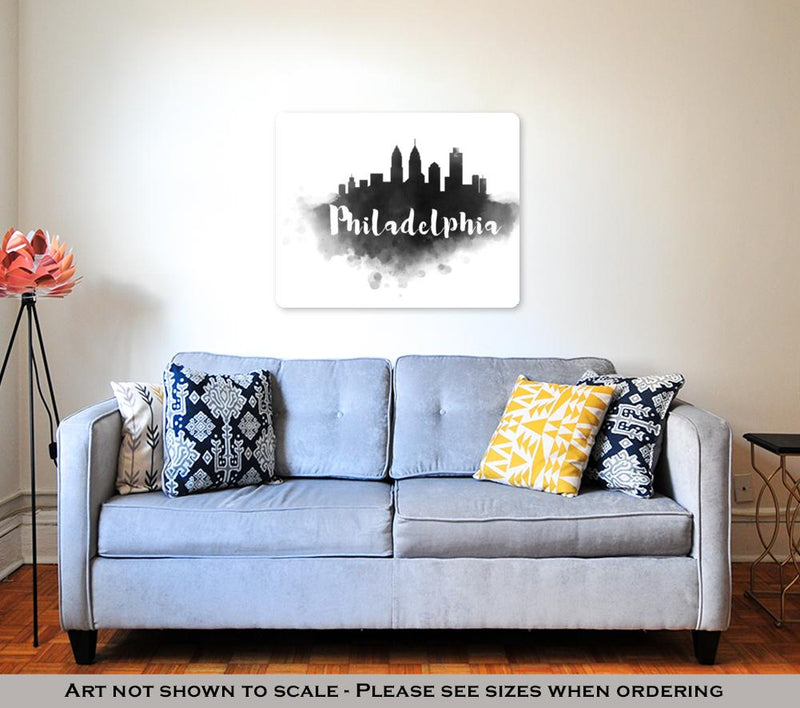 Metal Panel Print, Philadelphia City Skyline
