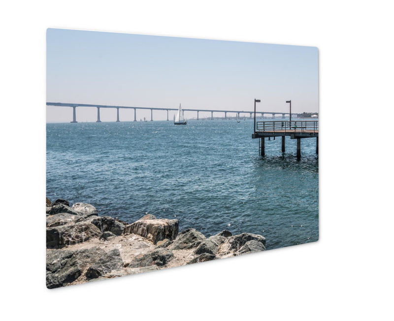 Metal Panel Print, Fishing Pier At Embarcadero Park South In San Diego California With The