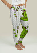 Leggings with Frogs