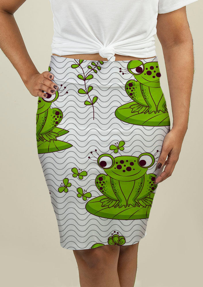 Pencil Skirt with Frogs