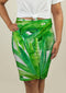 Pencil Skirt with Tropical leaves
