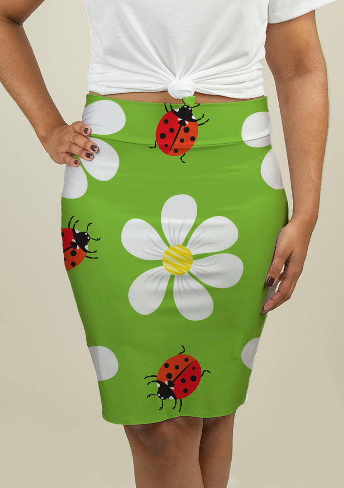 Pencil Skirt with Floral Pattern