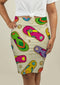 Pencil Skirt with Flip Flop Pattern
