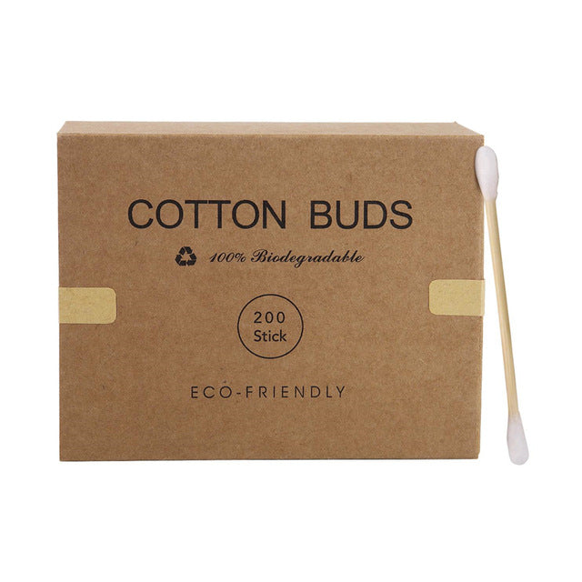 Double Head Cotton Swab with Wood Stick (Not Plastic.)