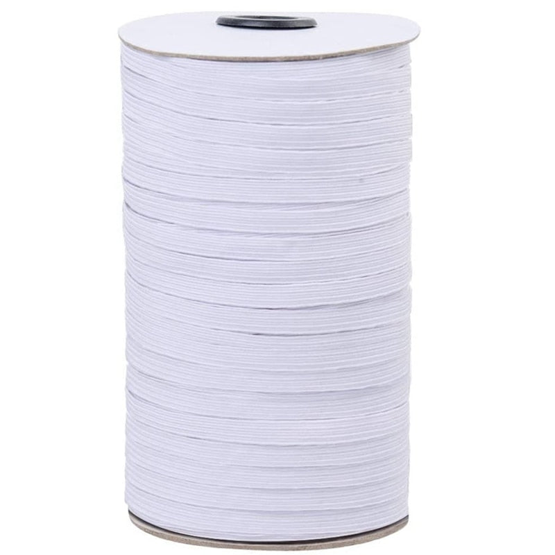 1/8 Inch Braided Elastic Cord 200 Yard Spool Heavy Stretch Latex Material