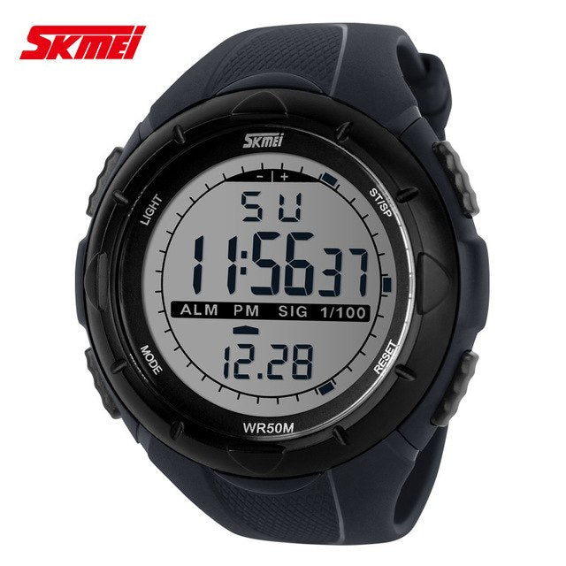 Men MILITARY STYLE LED SPORT WATCH BY SKMEI