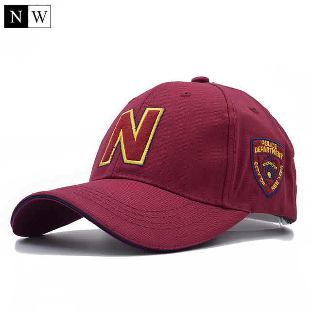Men 3 Color  Baseball Caps With Letter N