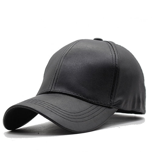 Plain New Men Baseball Cap Women Leather Snapback Caps Casquette Brand Adjustable Bone PU Hats For Men Dad Winter Baseball Caps
